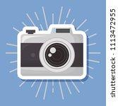 photographic camera icon | Shutterstock .eps vector #1113472955
