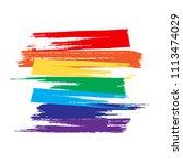 lgbt concept. flag pride... | Shutterstock .eps vector #1113474029