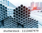 steel pipes industry... | Shutterstock . vector #1113487979