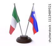 italy and slovenia  two table... | Shutterstock . vector #1113489521