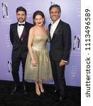 Small photo of New York, NY - June 12, 2018: Alexandre Choueiri, Linda G. Levy and Dionisio Denis Ferenc attend 2018 Fragrance Foundation Awards at Alice Tully Hall at Lincoln Center