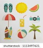 summer item illustration | Shutterstock . vector #1113497621