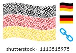 waving germany official flag.... | Shutterstock .eps vector #1113515975