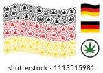 waving german official flag.... | Shutterstock .eps vector #1113515981