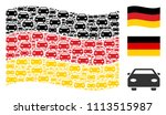 waving german flag. vector car... | Shutterstock .eps vector #1113515987