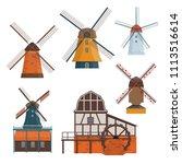 set of traditional rural... | Shutterstock . vector #1113516614
