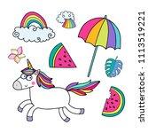 lovely vector set of... | Shutterstock .eps vector #1113519221
