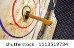 Indoor axe throwing hall for...