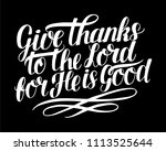 Hand Lettering Give Thanks To...