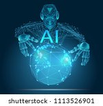 ai  artificial intelligence ... | Shutterstock .eps vector #1113526901