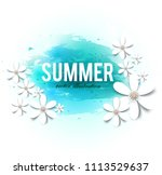 holiday banner with white... | Shutterstock .eps vector #1113529637