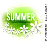 beautiful summer background... | Shutterstock .eps vector #1113530354