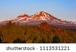 three sisters wilderness ... | Shutterstock . vector #1113531221