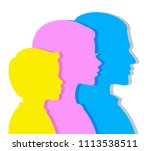 portrait of father of mother... | Shutterstock .eps vector #1113538511