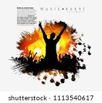 silhouettes of dancing people... | Shutterstock .eps vector #1113540617