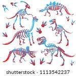 stylish  steep  dinosaur... | Shutterstock .eps vector #1113542237