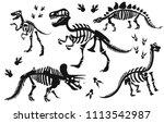 Stylish Silhouette Dinosaur...
