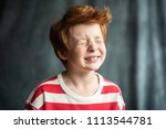 very charismatic handsome funny ... | Shutterstock . vector #1113544781