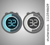 electronic digital stopwatch.... | Shutterstock .eps vector #1113548609