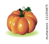 mouthwatering pumpkin isolated... | Shutterstock .eps vector #111354875