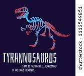 stylish dinosaur bones ... | Shutterstock .eps vector #1113549851