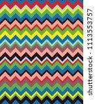 seamless zigzag pattern ... | Shutterstock .eps vector #1113553757