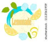 pattern lemonade  carbonated... | Shutterstock .eps vector #1113561959