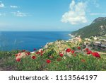 panoramic view of mediterranean ... | Shutterstock . vector #1113564197