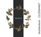 floral vector wreath. nature... | Shutterstock .eps vector #1113564467