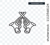 revolvers vector icon isolated... | Shutterstock .eps vector #1113568124