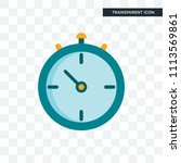 stopwatch vector icon isolated... | Shutterstock .eps vector #1113569861