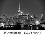 new york city  lower manhattan  ... | Shutterstock . vector #1113575444