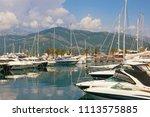 yacht marina in adriatic....   Shutterstock . vector #1113575885