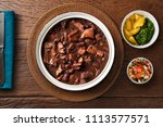 brazilian feijoada food. top... | Shutterstock . vector #1113577571
