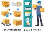 basic proper packaging step.... | Shutterstock .eps vector #1113579764
