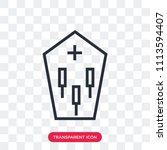 coffin vector icon isolated on...   Shutterstock .eps vector #1113594407