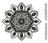 arabesques black and white... | Shutterstock .eps vector #1113600134