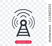 antenna vector icon isolated on ...   Shutterstock .eps vector #1113602231