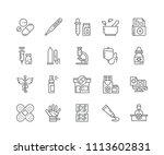 set of pharmacy outline icons... | Shutterstock .eps vector #1113602831