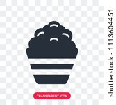 popcorn vector icon isolated on ... | Shutterstock .eps vector #1113604451