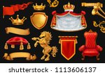gold crown of the king. royal... | Shutterstock .eps vector #1113606137
