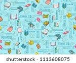 bookstore books drawing... | Shutterstock .eps vector #1113608075