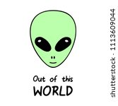 out of this world  alien vector ...   Shutterstock .eps vector #1113609044
