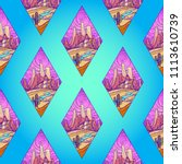 seamless background of... | Shutterstock .eps vector #1113610739