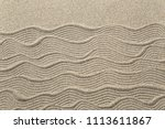 Sand Texture With The Wave...