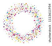 vector colorful round confetti... | Shutterstock .eps vector #1113611954