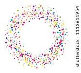 vector colorful round confetti... | Shutterstock .eps vector #1113611954
