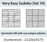 vector sudoku puzzle with... | Shutterstock .eps vector #1113614174