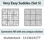 vector sudoku puzzle with... | Shutterstock .eps vector #1113614177