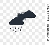 cloudy vector icon isolated on...   Shutterstock .eps vector #1113617594